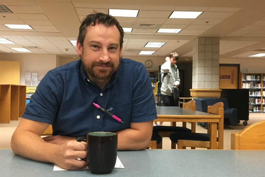 Chemistry teacher Matthew Howard-Donlin leaves for Shepherd Hill Regional High School on Monday.