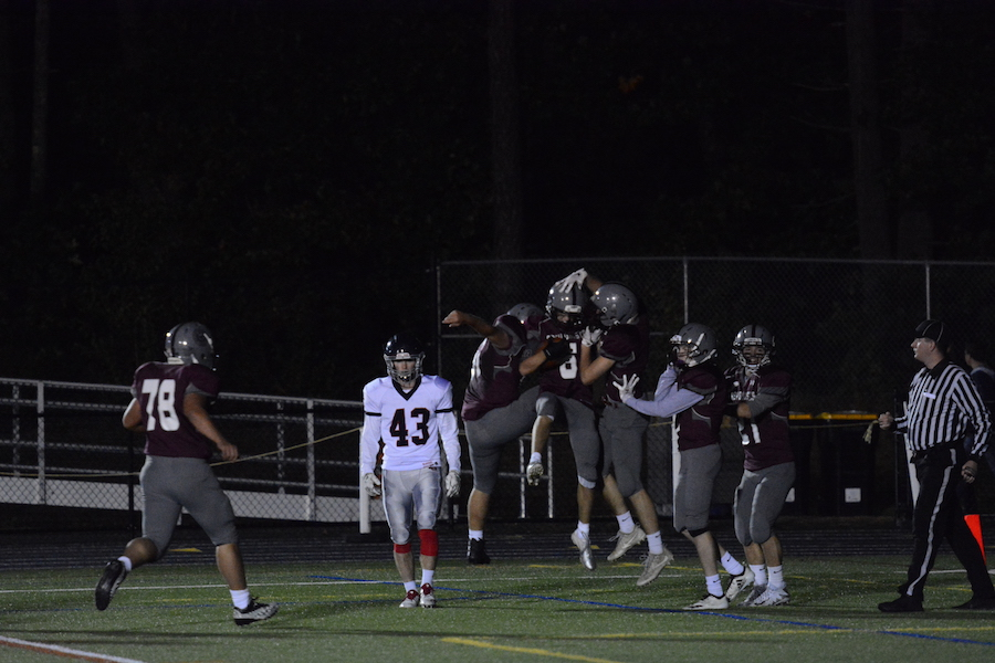 Sophomore+Michael+Kennedy+scores+a+touchdown.