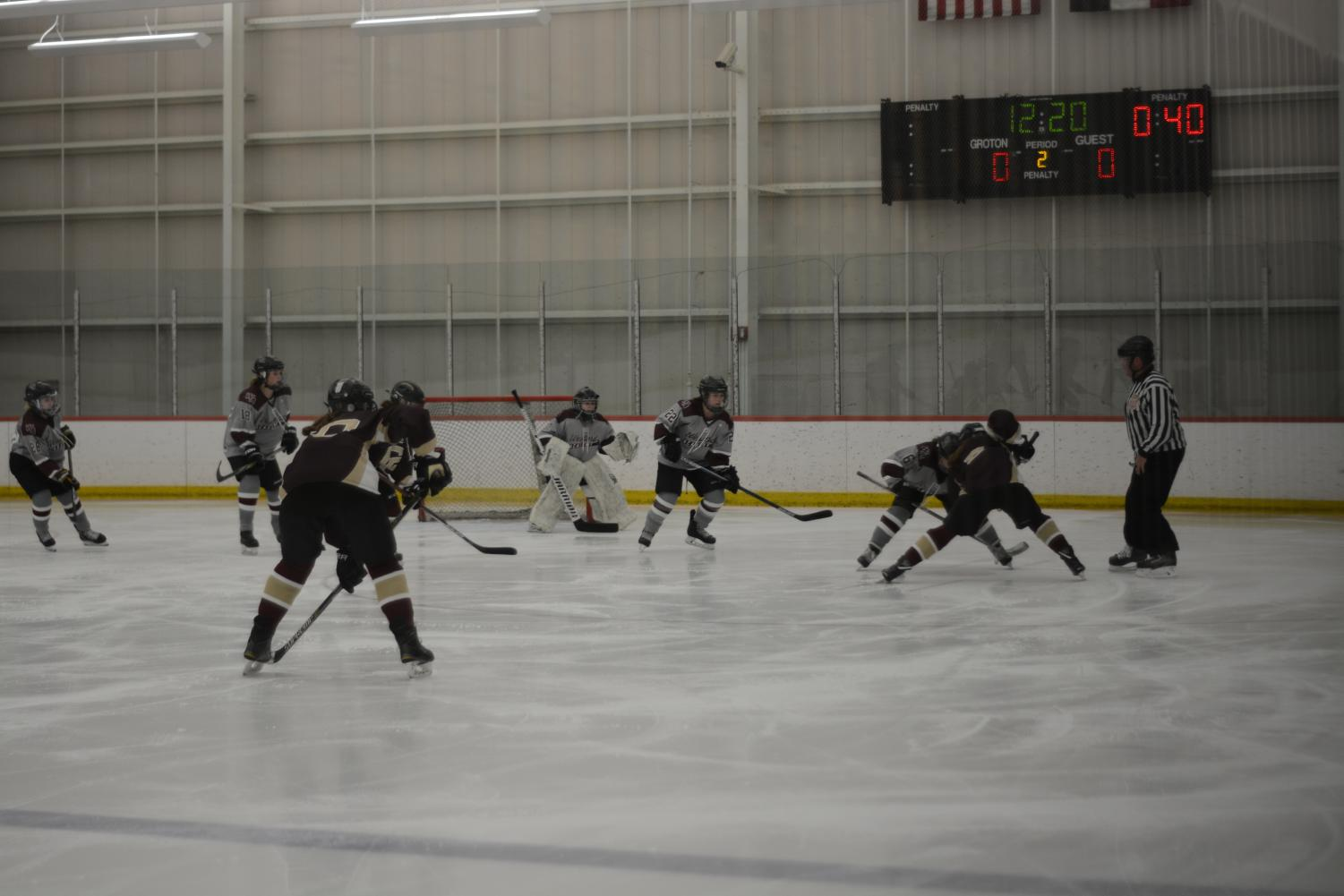 Westford+Academy+takes+a+faceoff+against+CC.