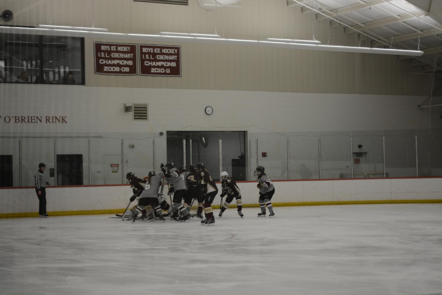 Westford+Academy+scuffles+to+get+the+puck+past+the+CC+goalie.