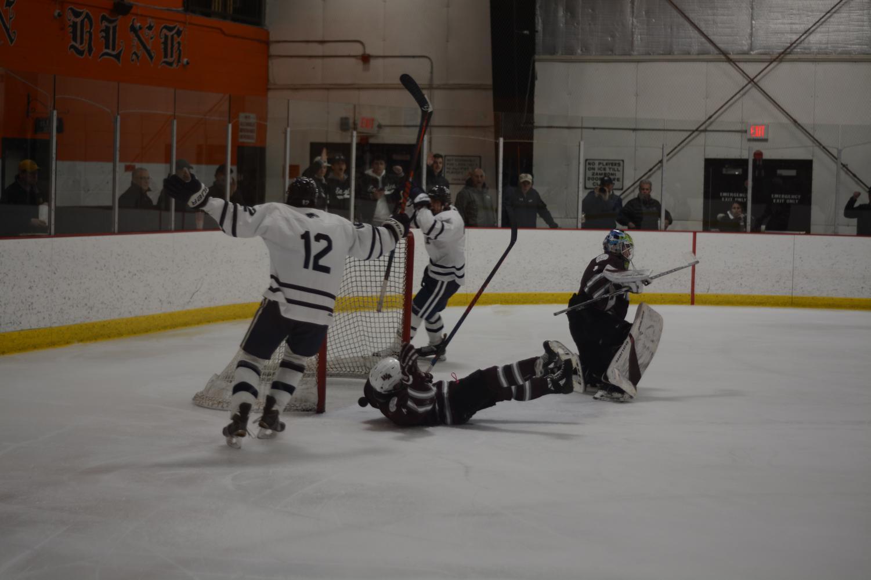 St. John's Prep teammates triumph after scoring goal