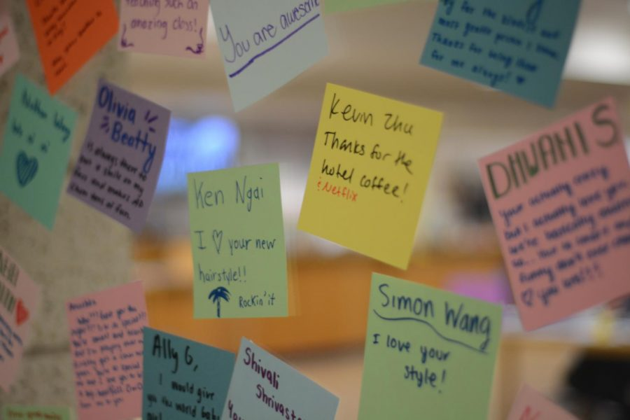 Compliment cards written for students at Westford Academy.