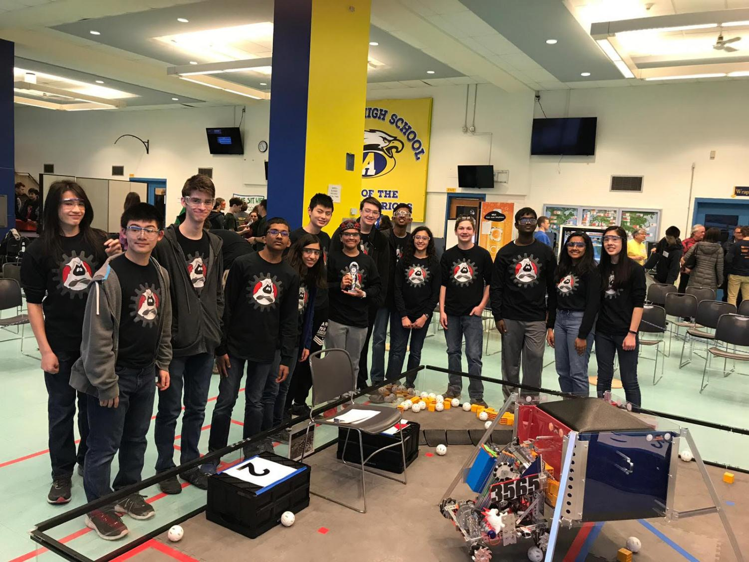 Ghost Robotics team picture in the First Qualifier in Andover.