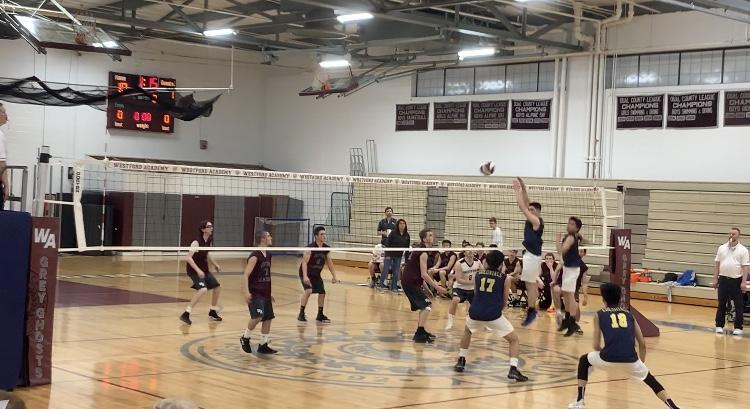 Boys' Volleyball beats Acton-Boxboro 2-1