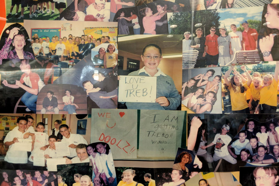 Trebor Dooley's classmates and friends had created a collage in his memory