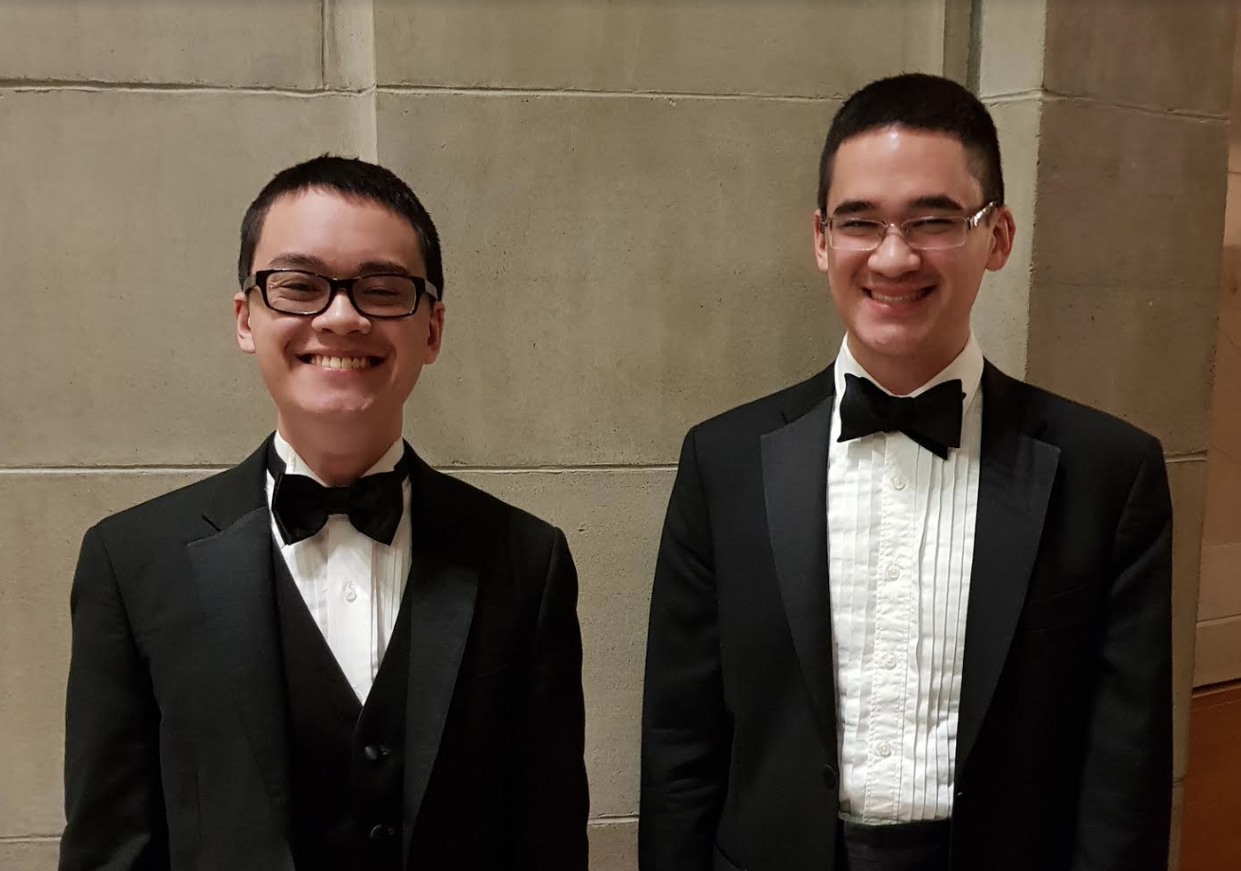 The Soo brothers pose for a sibling photo