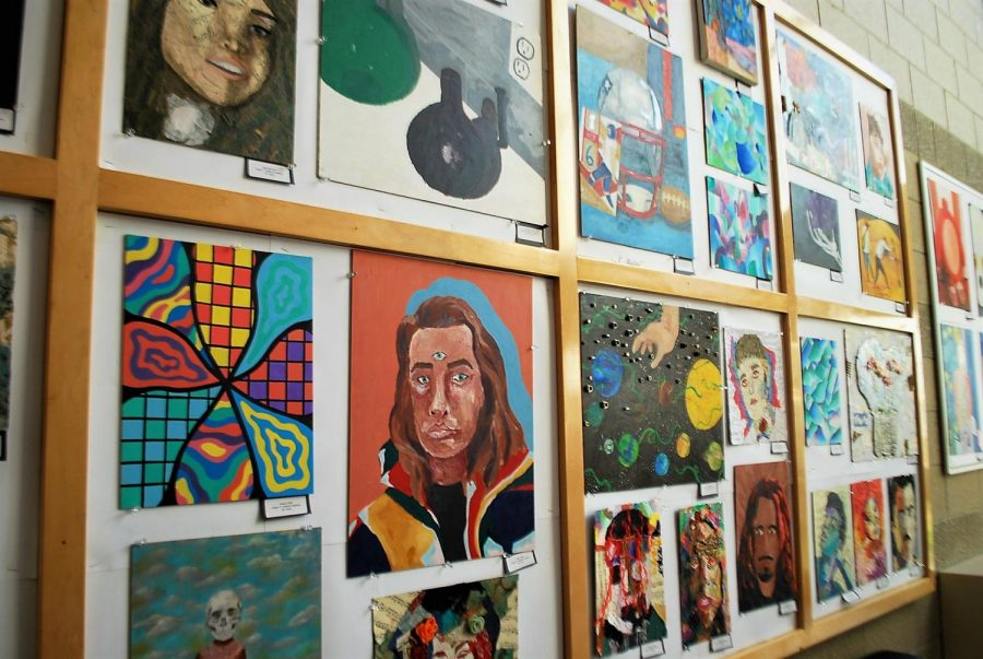 More paintings in the flag lobby by WA's art students.