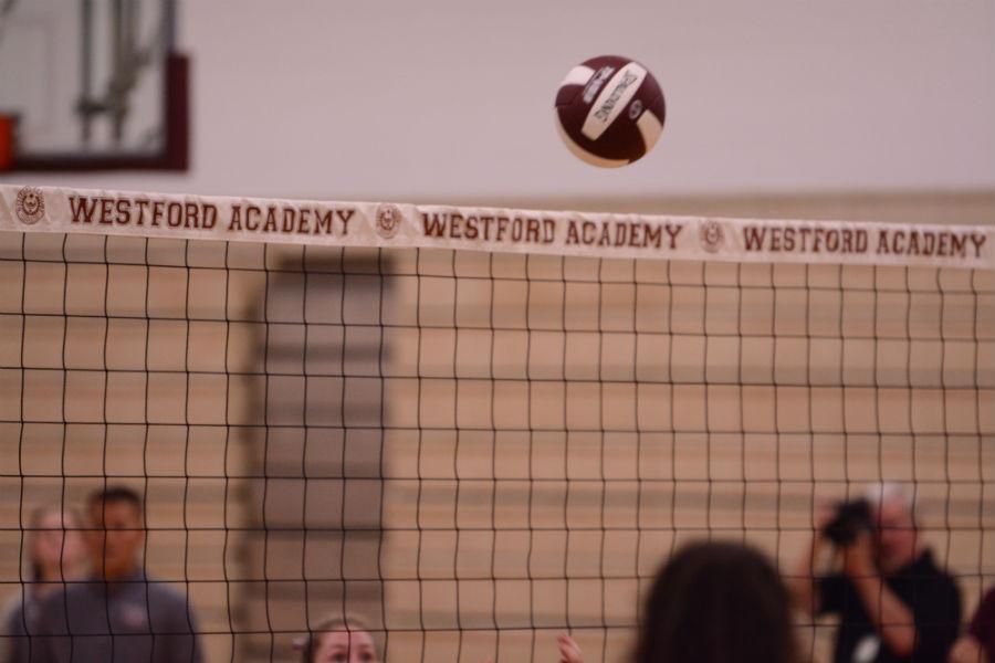 Volleyball+flies+over+the+net
