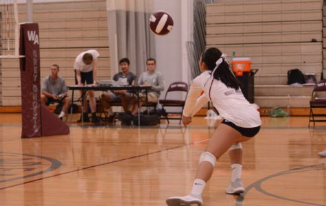 Junior Veronica Xu hits the ball.