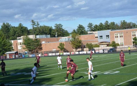 Senior Jerry Xiang intercepts a pass from Cambridge.