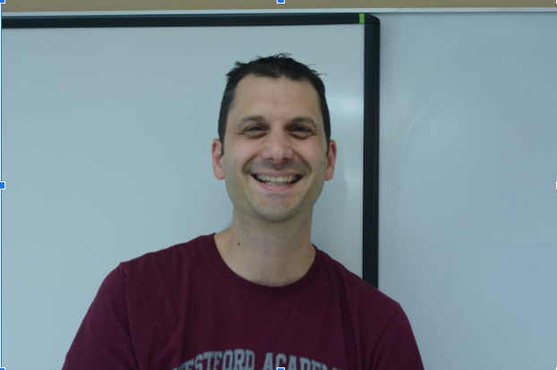 John+DiGennaro%2C+a+new+special+education+teacher+at+Westford+Academy+poses+for+a+photo.