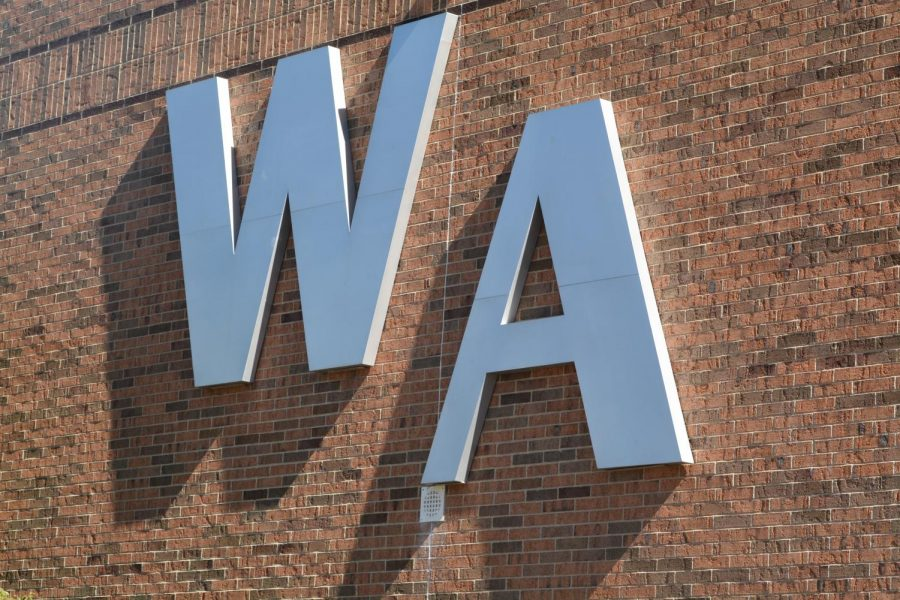 """WA"" on the side of Westford Academy"