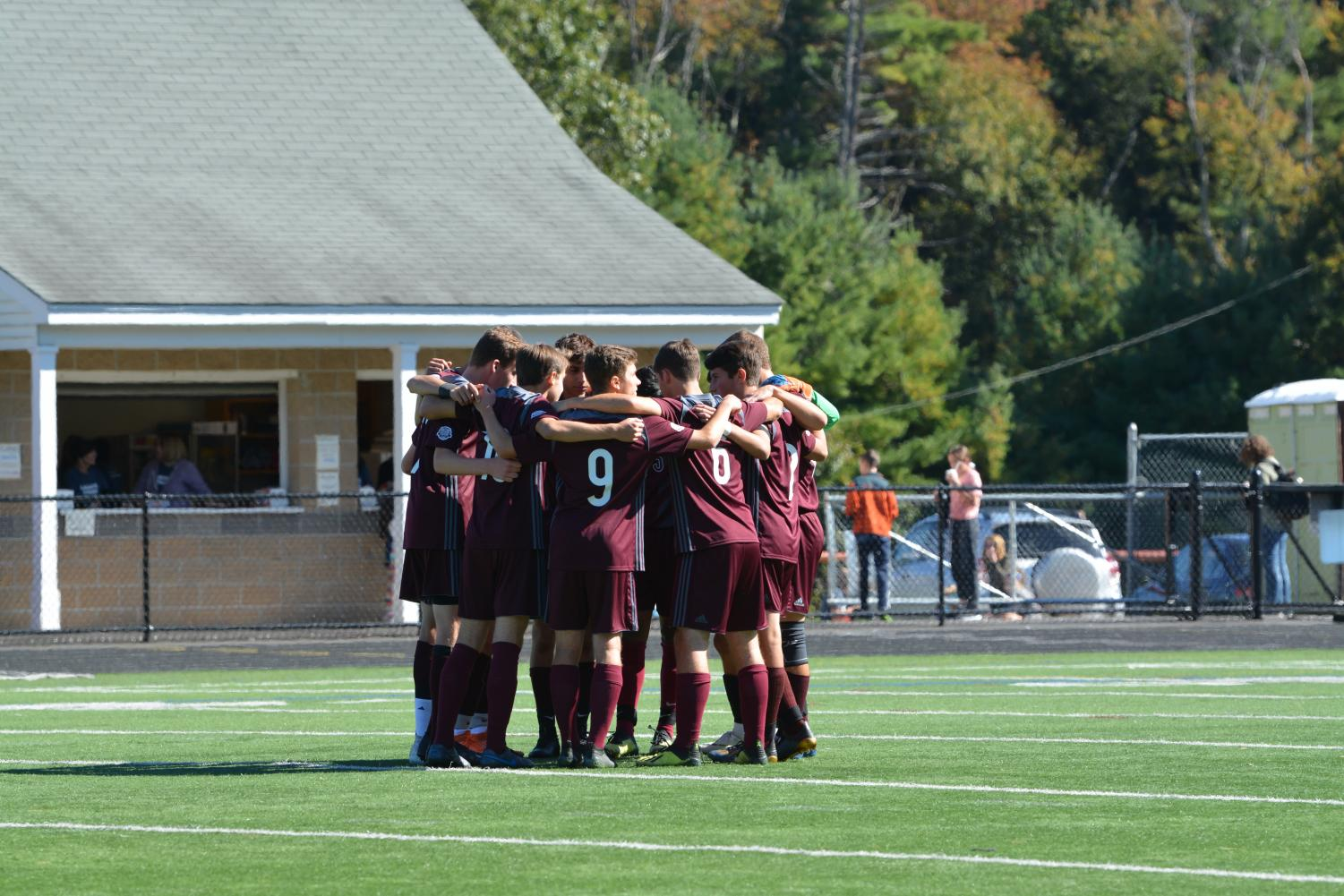 Boys' Varsity Soccer ties with Chelmsford