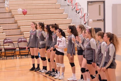 Girls' Varsity Volleyball crushes Bedford in first game of season