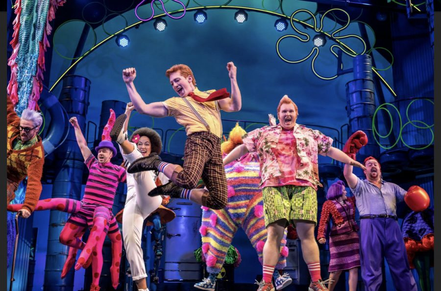 Cast+of+Spongebob+the+Musical+performing+on+Broadway.