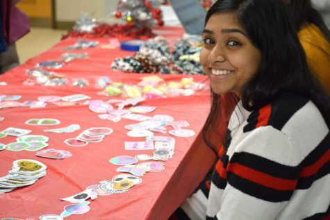 "HOSA president Lasya Dutta: ""We decided to do the sticker thing because now it"
