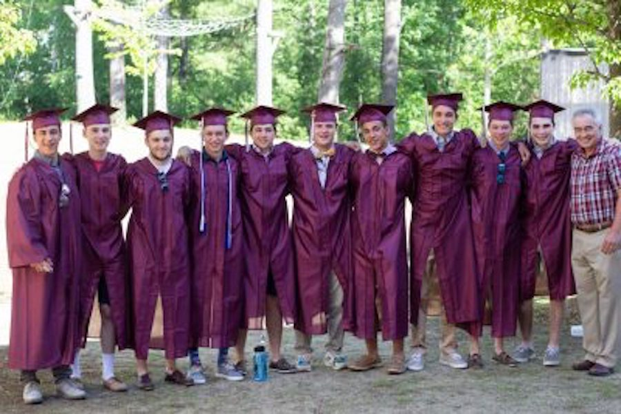 This is what graduation might look like if all students were to wear maroon.