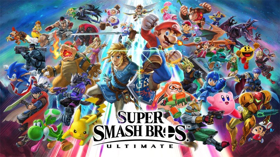 The cover for the most recent Smash Bros game, designed by Yusuke Nakano.