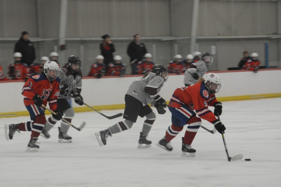 WA follows the puck down the ice.