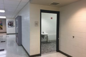 Westford Academy removes boys' bathroom doors