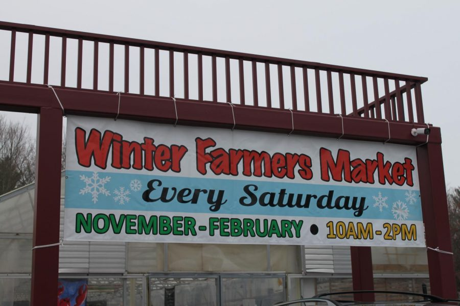 The Winter Farmer's Market sign