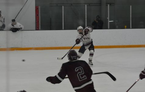 WA Boys' Varsity Hockey wins an aggressive game against Chelmsford