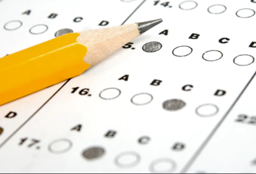 A scantron sheet similar to what students have to use for their midterms.