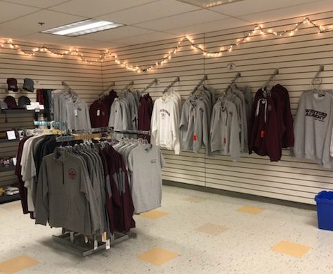 The school store has a variety of WA Grey Ghost apparel.
