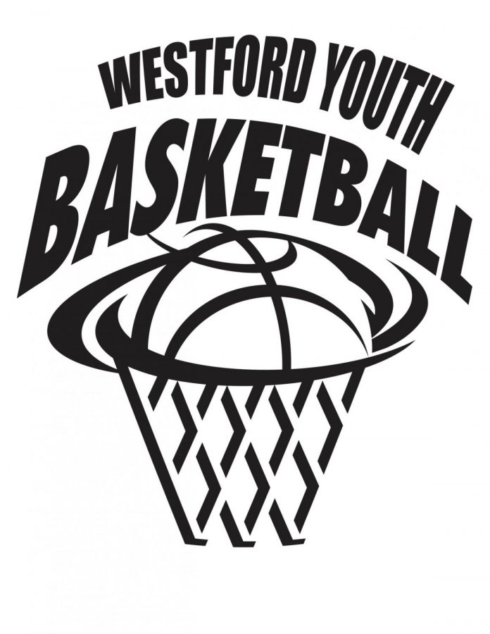 Westford youth basketball logo.