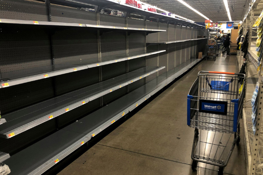 Empty+shelves+at+Walmart