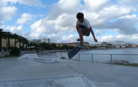 Someone skateboarding, a hobby I have taken up