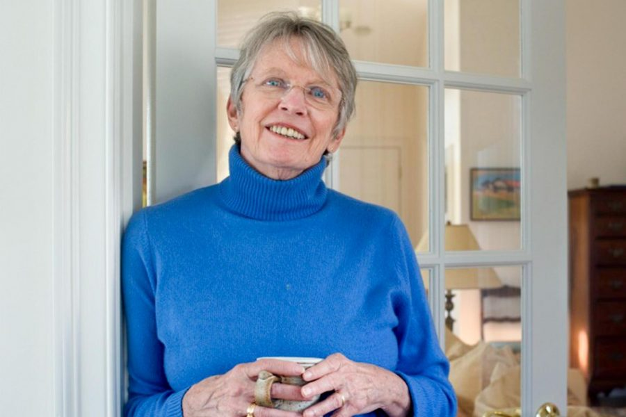 Lois Lowry, author of The Giver and On The Horizon, poses for a photo in her home.