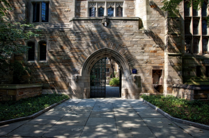 College doors welcome their students into the knowledgeable campus.
