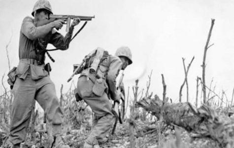 U.S. Marines fighting on Okinawa.