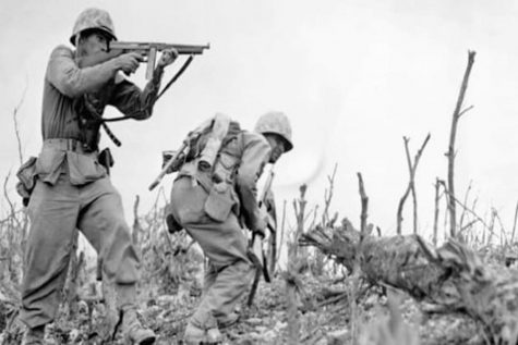 U.S. Marines fighting on Okinawa.