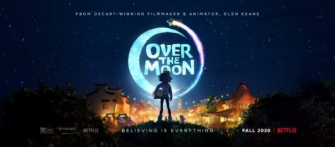 New movie Over the Moon poster represents the themes of the movie.