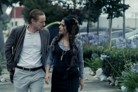 "Owen Wilson and Salma Hayek in ""Bliss""."
