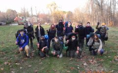 The members of Cirrus Outdoor Adventure Club pose for a photo during their camping trip on Nov. 20, 2020.