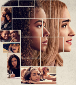 Antonia Gentry and Brianne Howey appear on the TV show poster for the Netflix show 'Ginny and Georgia'