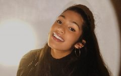 Sreya Binu poses for a competition headshot