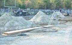 Construction of amenities building in progress