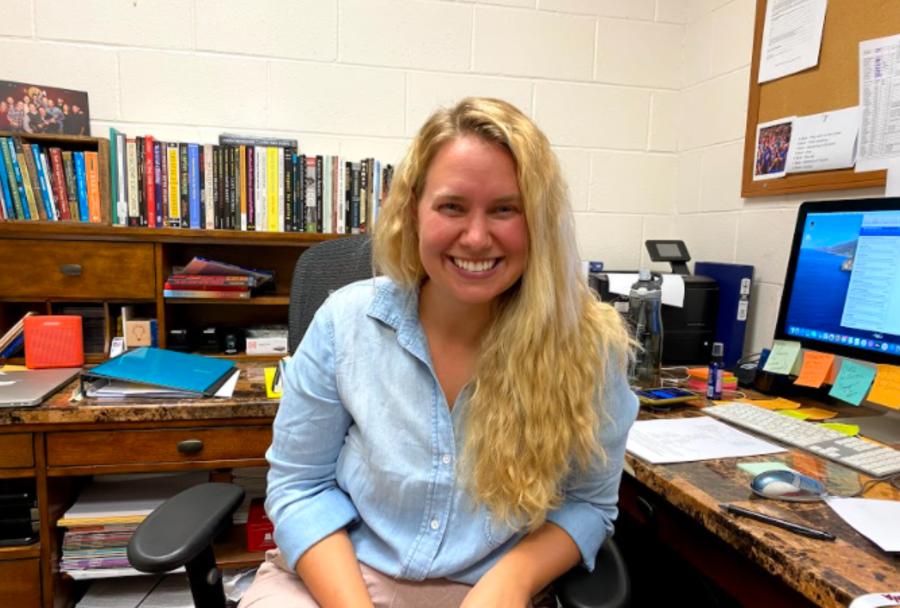 New WA interim Artistic Director Maggie Sulka smiles for a picture.