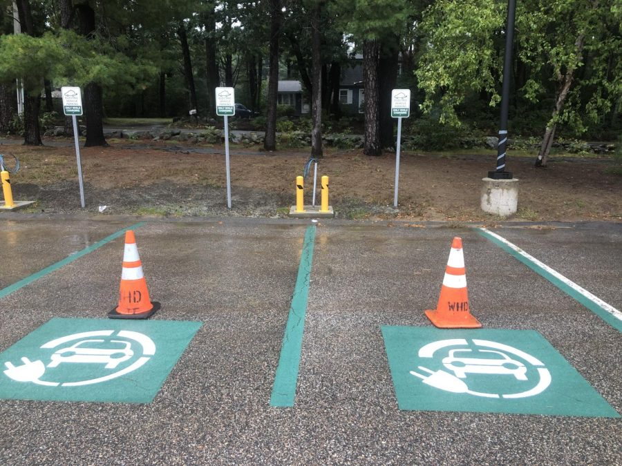 Twelve Electric Car charging stations are being added to the front faculty parking lot of WA.