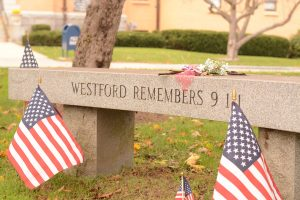 The first project of Westford Remembers after its inception in 2010, this bench is dedicated to two victims of 9/11 from Westford, Susan MacKay and James Hayden.